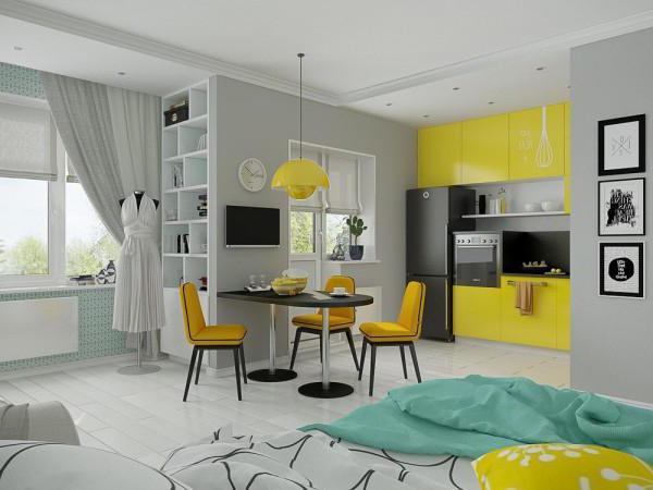 дизайн однокомнатной квартиры 30 кв м хрущевка