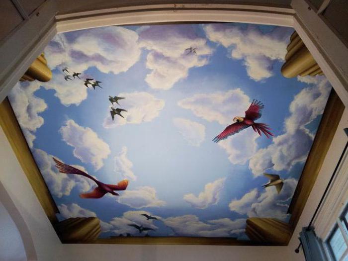 роспись потолка своими руками фото