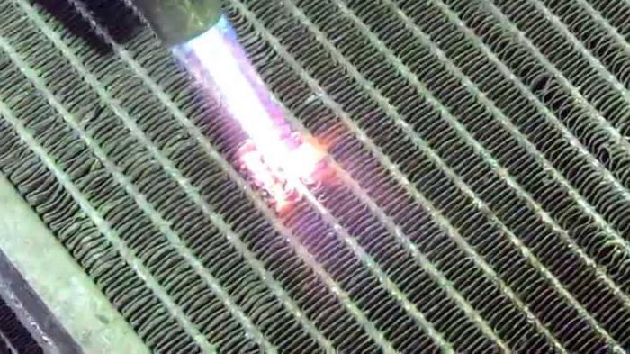 Запаять радиатор охлаждения