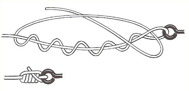 Как вязать узел клинч