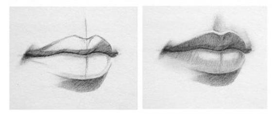 Художники осексе в простом карандаше