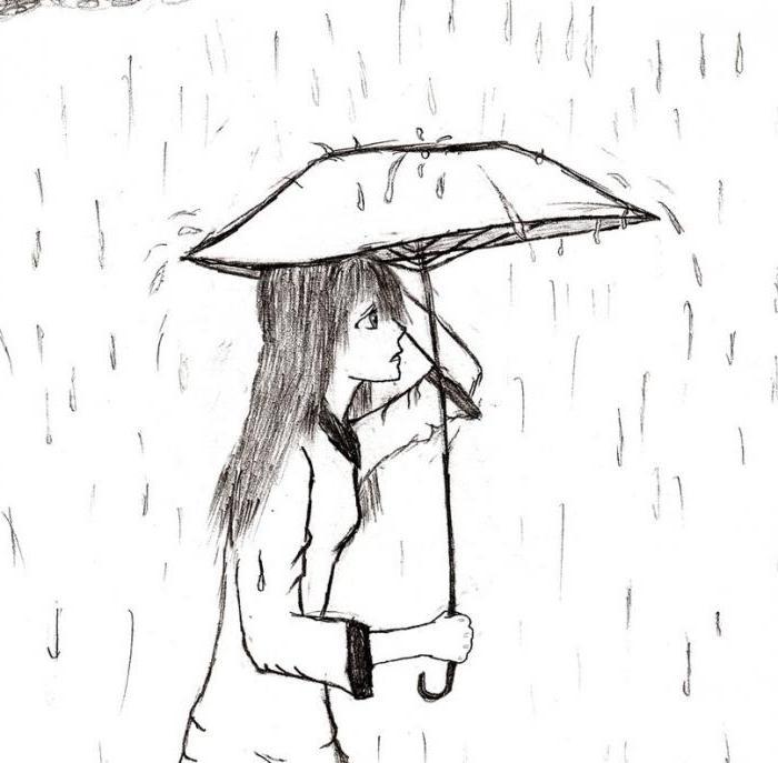 нарисовать идет дождь