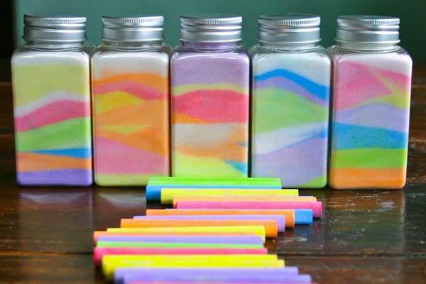 как покрасить соль для поделок