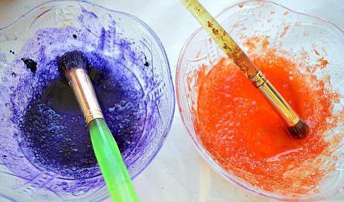 как покрасить соль