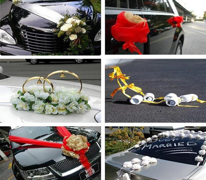 Как сделать своими руками украшения на машину свадьбу 60