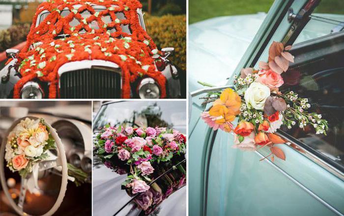 украшение автомобиля на свадьбу спб
