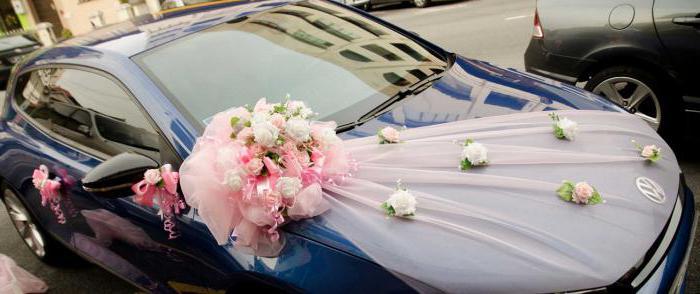 украшение на автомобиль на свадьбу своими руками