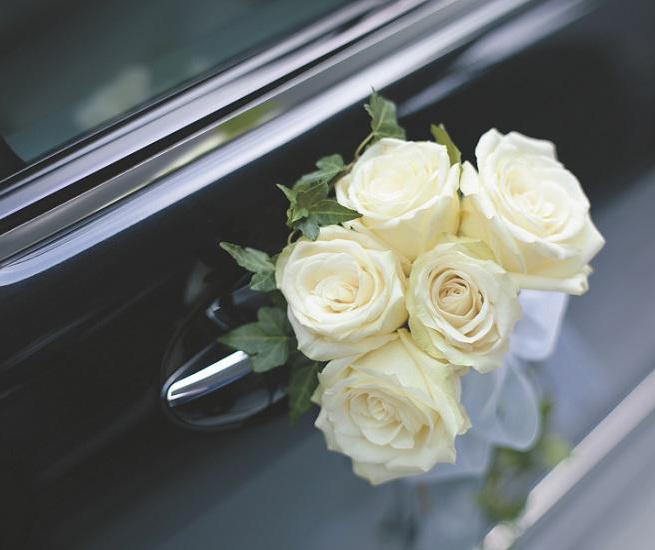 украшения на ручки автомобиля на свадьбу