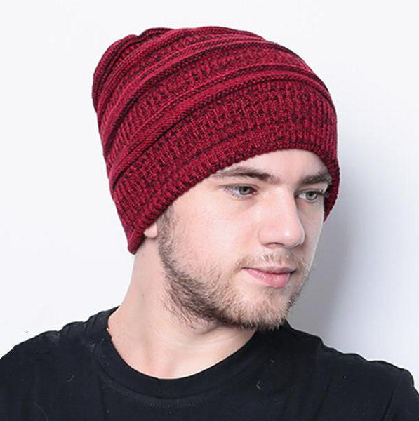 Вязание шапок спицами для мужчин модные модели 2018 46