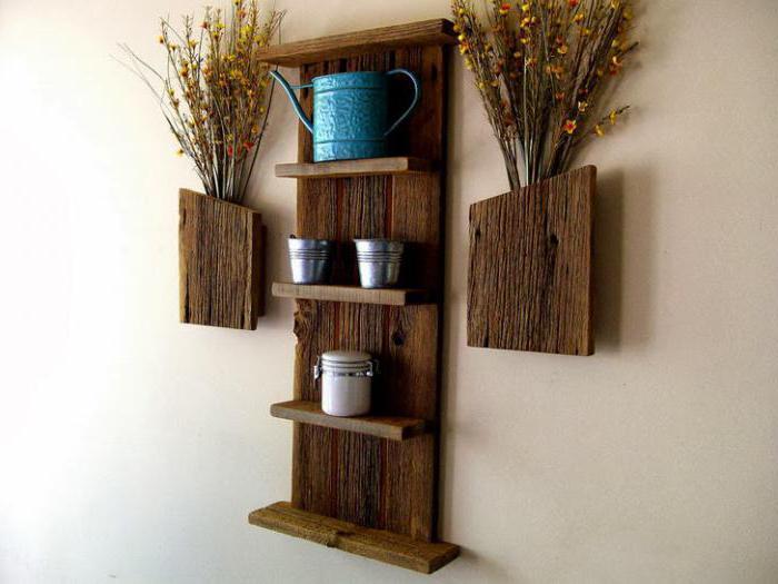 деревянные полки на стену