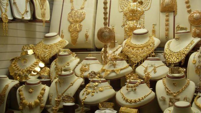 дубайское ювелирное золото