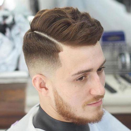 фото мужская стрижка с пробором