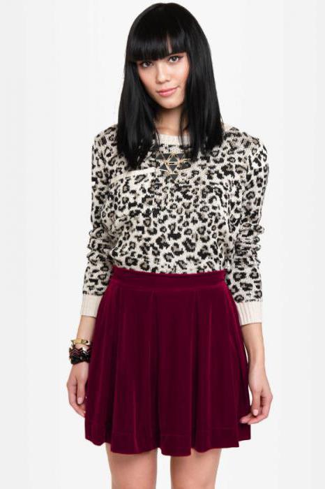 бархатная юбка с чем носить