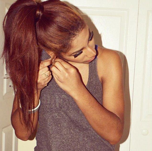 покрасить волосы в темно медный цвет