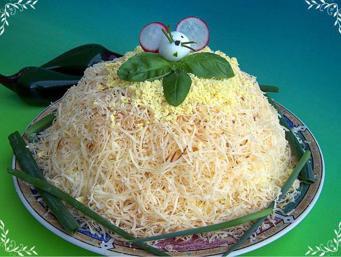 """Салат """"Монгольская горка"""" - 2 – кулинарный рецепт"""