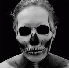 макияж скелет