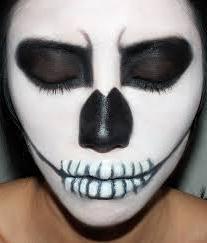 макияж скелета для девушки