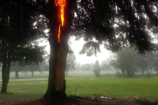 долговременные последствия поражения молнией