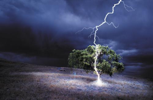 последствия попадания молнии