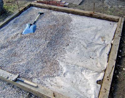 Фундамент под баню из бруса