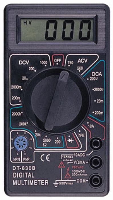 Смотреть инструкцию по эксплуатации мультиметра dt 830b
