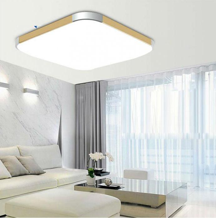 потолочный светильник накладной квадратный светодиодный