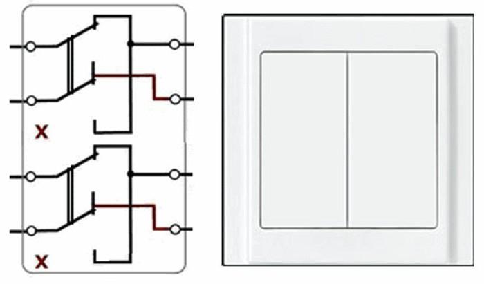 двойной перекрестный выключатель