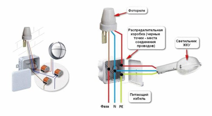 фотореле для уличного освещения схема