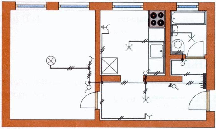 схемы подключения выключателей и розеток