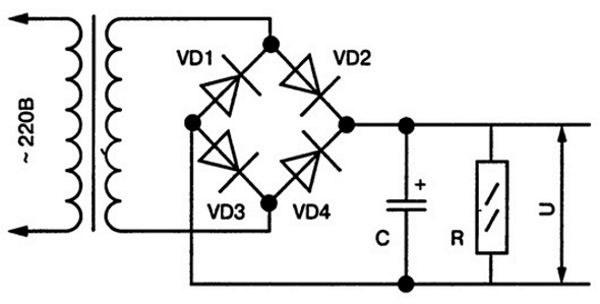схема диодного моста 12 вольт инструкция и сборка