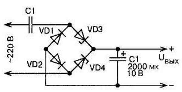схема диодного моста выпрямителя 24 вольта