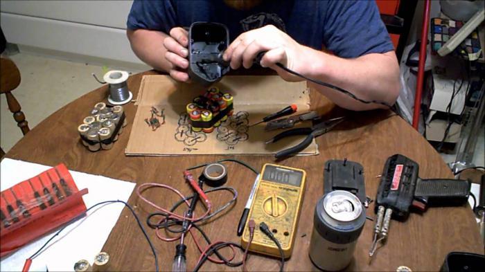 как восстановить аккумулятор шуруповерта