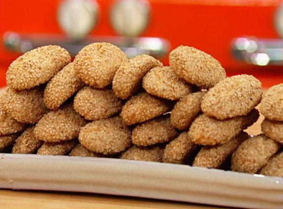 печенье из кунжутной муки