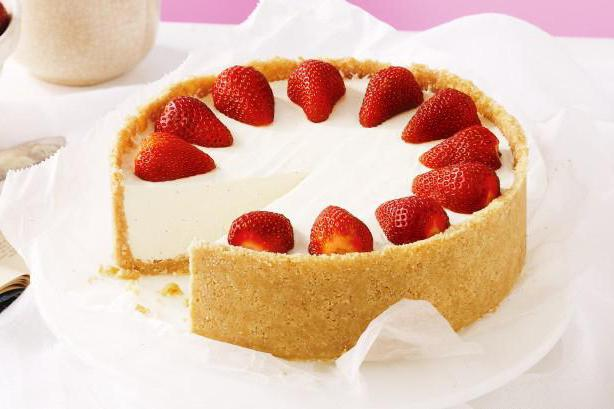 торт творожный без выпечки с желатином