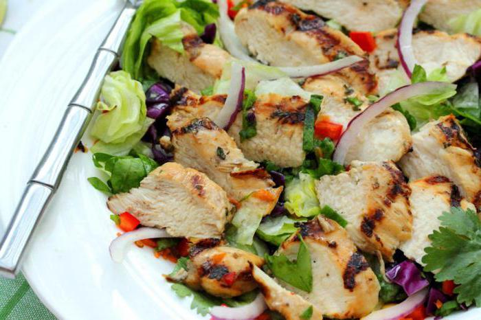 салаты простые с к с куриной грудкой рецепты