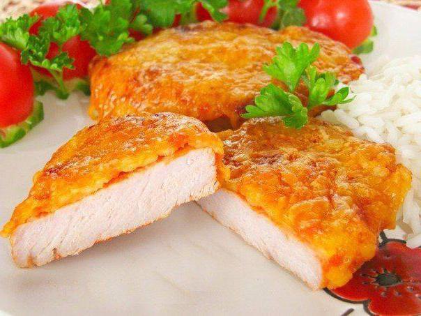 куриное филе под сырной шубой