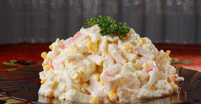 рецепты салатов из крабовых палочек и кукурузы яиц