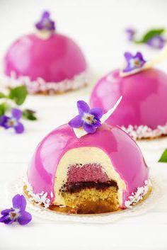 муссовые пирожные с зеркальной глазурью рецепт с комментариями