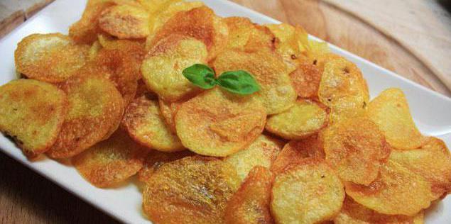домашние чипсы в духовке из картошки рецепт с