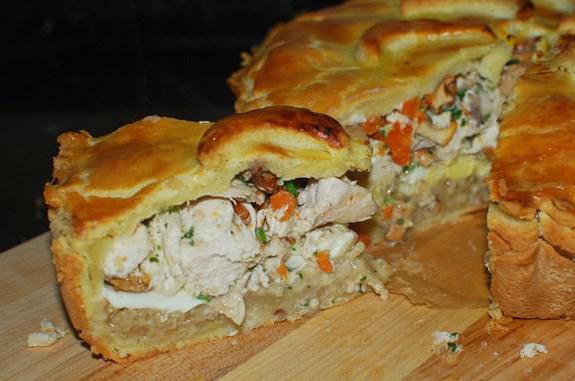 начинка для курника с картошкой и курицей