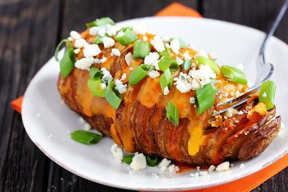 Рецепт. Картошка-гармошка в духовке