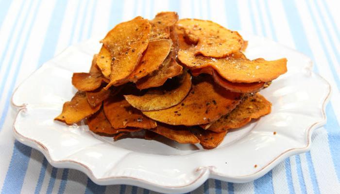 рецепт чипсов из тыквы в духовке