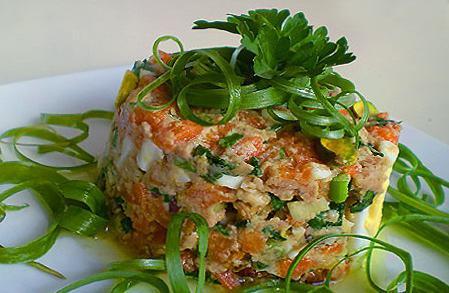 печеночный салат слоями рецепт