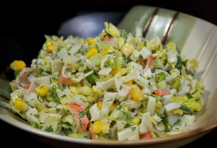 Салат изкрабовых иалочек постный