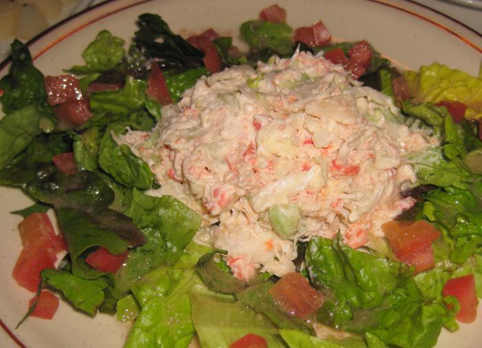 Крабовый салат. Рецепт рис, кукруза