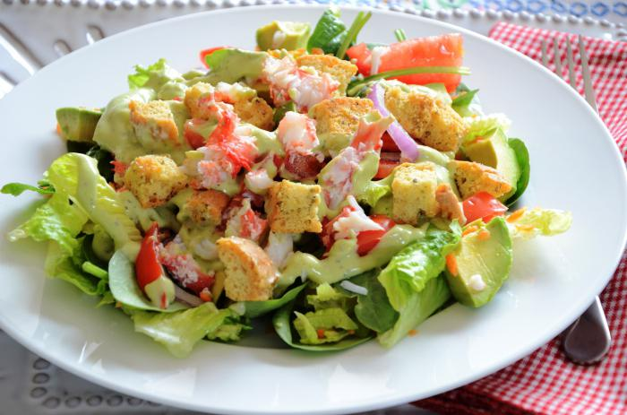 Как сделать крабовый салат без риса
