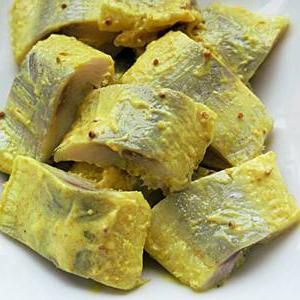 Селедка в горчичном соусе: рецепты, калорийность