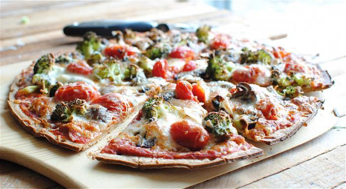 Пицца из теста на майонезе