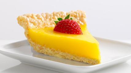 песочный рубленый пирог с лимоном