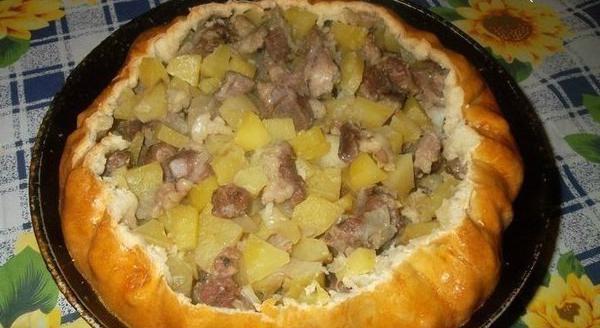 балиш с мясом и картошкой в мультиварке